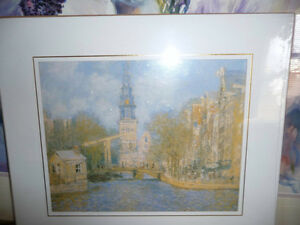 "Claude Monet ""Canal In Amsterdam"" Painted 1874 Art Print"