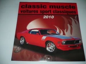 Superbe Calendrier 2010, Voitures ( Muscle Car )