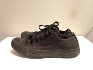 All Black Converse Shoes - Women's size 7 or Men's size 5