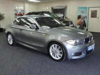 2009 BMW 1 SERIES 118D M SPORT + VERY CLEAN + NEW SERVICE AND MOT + COUPE DIESEL