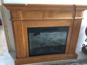 Electric Fireplace with heater and remote control