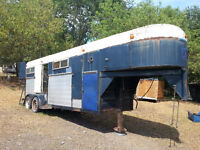 SOLD PPU Older Royal 4-Horse / Stock Trailer, Goose-neck