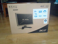 """Acer 20"""" Widescreen LCD monitor"""