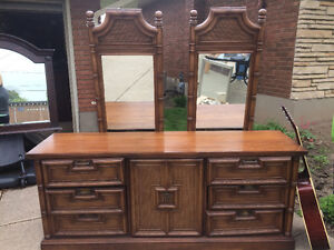 Antique dresser and Armoir