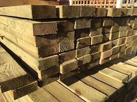 🌳Treated Wooden/Timber 40 x 90 X 3.6m Rails/Lengths