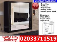 Brand New Chicago180cm Wide Sliding Mirror Wardrobe get your order today Shiprock