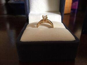 .33 princess cut diamond solitaire (14k gold band) St. John's Newfoundland image 1