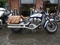 Indian Scout Two-Tone Blue/white 17/17 reg 4559miles VGC FSH