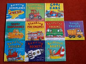 Set of 10 childrens transport books
