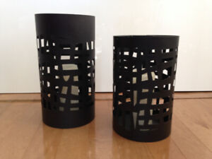 bougeoirs abstraits / abstract candleholders
