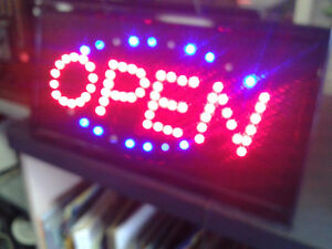 Open Signs (2) at The Meetinghouse!