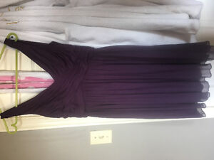 Women's dress in Plum from Davids bridal