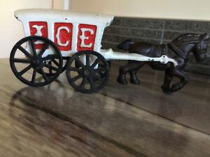 Cast-iron Horse drawn Ice Wagon
