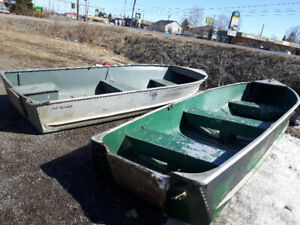 2 x aluminum boats for sale