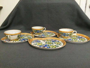 Collectible Antique Antique Hand Painted Cups & Plates London Ontario image 1