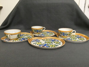 Collectible Antique Antique Hand Painted Cups & Plates