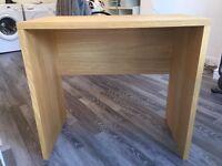 John Lewis Oak Veneer Desk