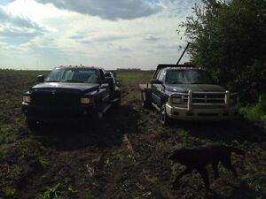 2002 Dodge Welding Truck and 2000 Dodge with Flood deck