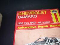 camaro and chevelle repair manuals