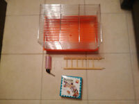 Hamster Cage (+ accessories)