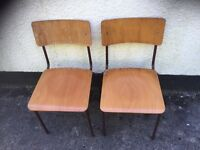 Pair of stacking chairs