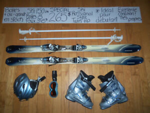 6 KITS SKI ALPIN PARABOLIQUES & TWIN TIPS 150 -156 CM.