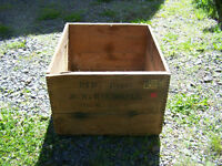 Vintage Wood Advertising Box  D.N. Rockwell Newport N.S.