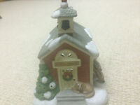 Christmas Village Partylite Schoolhouse