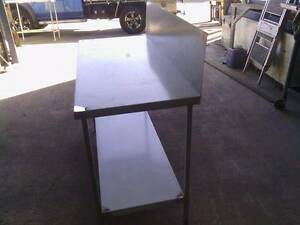 New STAINLESS STEEL 1400x600 FOOD GRADE 304 BENCH WITH 300 S/B Beenleigh Logan Area Preview