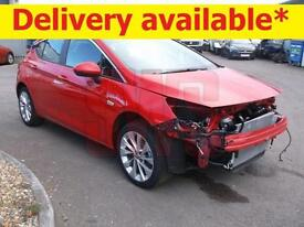 2016 Vauxhall Astra Design 1.4 DAMAGED REPAIRABLE SALVAGE