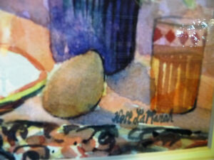 """A Morning Table by Nell LaMarsh """"Morning, By the Window"""" 1970's Stratford Kitchener Area image 5"""