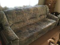 Three seats bed sofa