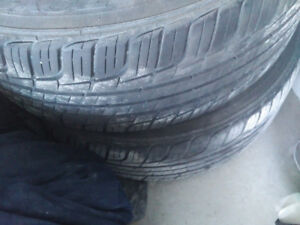 Selling tires + rims (205-55-16)