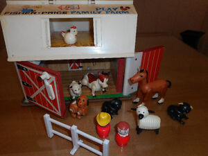 Ferme Fisher-Price Vintage 70's Play family farm