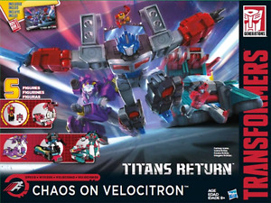 Transformers Titans Return Chaos on Velocitron Boxset
