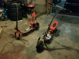 2 49cc gas scooters