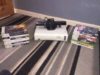 Xbox 360 W/ Kinect + 18 games! £60 ono