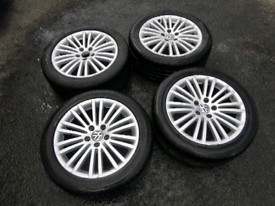 "Genuine 17"" VW Passat/Eos Alloy Wheels & Tyres BBS 5x112 Golf/Audi"