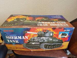 Vintage Radio Shack Radio Controlled Sherman Tank