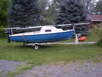 Evans 16' Sailboat $1000 with trailer