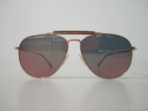 "TOM FORD MEN'S SUNGLASSES FLAT LENSE ""SEAN"" SHINY ROSE GOLD"