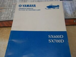 YAMAHA SX600 and SX700 owners manual 2000 model $20.00
