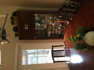 Dining room suit w/8 newly uoholstered chair