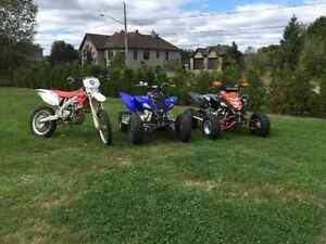 CRF 450X et Raptor 700