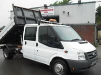 61 REG FORD TRANSIT CREW D/CAB 115PS TIPPER, EXCELLENT CONDITION, BEST IN UK!