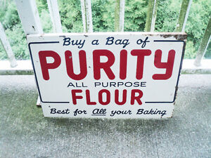 Lovely Purity Flour Painted Metal Advertising Sign