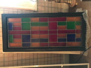Beautiful vintage stained glass window in perfect condition.