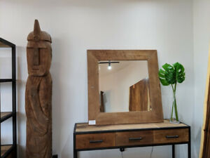 "40"" Reclaimed Wood Accent Mirror"