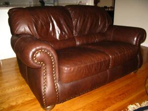Natuzzi Leather Loveseat