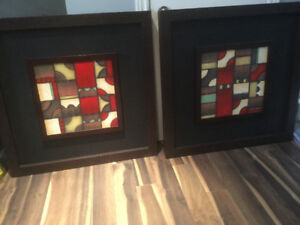 Solid wood Picture Frames x 2